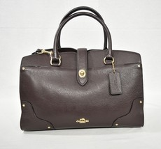 NWT Coach 37575 Grain Leather Mercer 30 Satchel/Shoulder Bag in Oxblood - £195.06 GBP