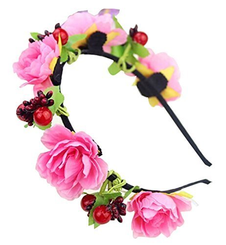 Simulation Flower Hair Hoop Headdress Holiday Beach Photos Wedding Hair Band
