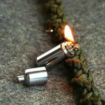 Keychain Waterproof Fire Starter Capsule Oil Gas Lighter image 3