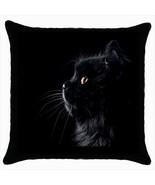 Throw pillow case cover cartoons black cat - $19.50