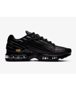 Nike Air Max Plus 3 Leather Tuned Trainers in Black and Orange - $288.29