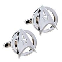 Star Trek Cufflinks Delta Shield Command Insignia Sci Fi Trekkie Fan W Gift Bag - $12.95