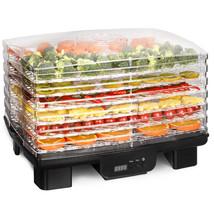 Food Dehydrator 6 Stackable Trays Fruit Vegetable Dryer Adjustable temp ... - £47.85 GBP