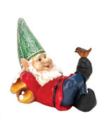 David The Gnome, Yard Gnome Village, Funny Lazy Gnome Solar Statue Figur... - $34.73