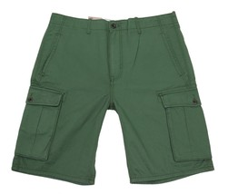 BRAND NEW LEVI'S MEN'S PREMIUM COTTON RELAXED FIT CARGO SHORTS GREEN 124630165
