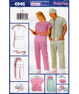 Butterick 4946 Scrubs Uniforms Unisex Sewing Pattern Dress Pants Top Siz... - $6.45