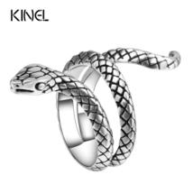 Wholesale Fashion Snake Rings For Women Color Silver Heavy Metals Punk R... - $2.99