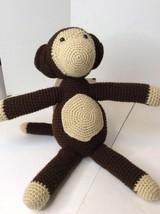 "Handmade Brown-Black Large 19"" Monkey Amigurumi Stuffed Toy Knit Crochet... - $32.68"