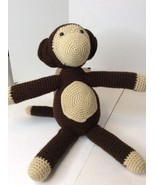 "Handmade Brown-Black Large 19"" Monkey Amigurumi Stuffed Toy Knit Crochet... - $622,29 MXN"