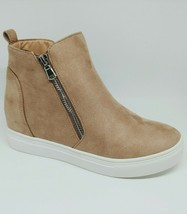 LaSheelah Taupe wedge sneakers image 2