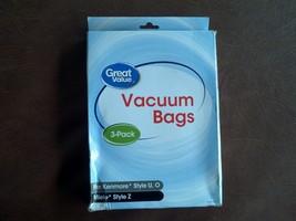 Great Value Kenmore U/O/5068 & Miele Style Z Premium Vacuum Bag, 3-Pack, 2377 - $11.88