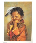 Artisan Blank Greeting Note Card Josie's Smile by Carol Theroux - $3.38