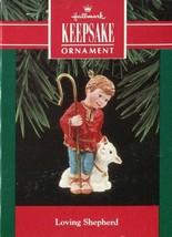 1992 Hallmark Keepsake Christmas Ornament - LOVING SHEPHERD - #QX5151 - $2.66