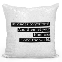 Sequin Pillow With Stuffing 696 Sequin Pillow With Stuffing Be Kind And ... - $34.25