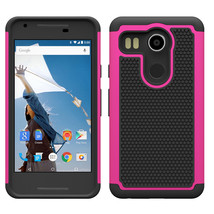 Absorbing Dual Layer Hybrid Protective Armor Case For LG Nexus 5X - Hot ... - $4.99