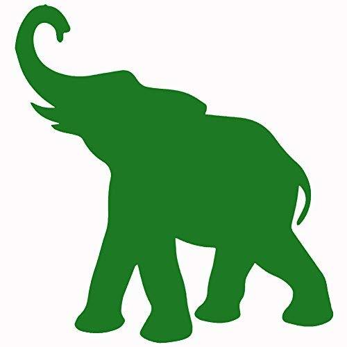 "Primary image for ELEPHANT V1 Vinyl Decal by stickerdad - size: 5"", color: GREEN - Windows, Walls,"