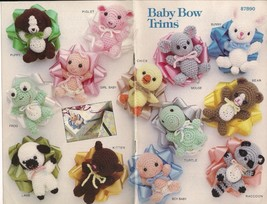 Baby Bow Trims Annie's wrap gift package 12 CROCHET PATTERNS, RARE! Vint... - $38.56