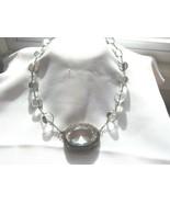 "Antique Sterling Rock Crystal Dragon Motif "" Pools Of Light "" Necklace  ... - $841.50"