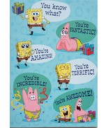 SpongeBob Nickelodeon Greeting Card Birthday  - $3.89