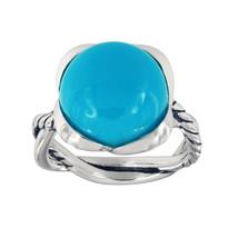David Yurman Continuance Ring With Amazonite, 14mm - $360.00