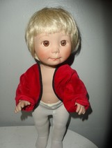 "Lee Middleton Hayden 14"" Toddler Vinyl Blonde Hair Brown Eyes Boy Doll - $17.77"
