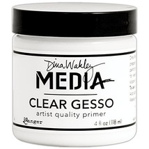 Ranger MDM46424 Dina Wakley Media Gesso 4oz Jar-Clear, - $8.87