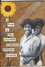ACEO ATC Art Card Collage Original Women Friends Girls Hug African American - $5.00