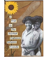 ACEO ATC Art Card Collage Original Women Friends Girls Hug African American - $5.00