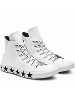Womens Converse X Miley Cyrus CTAS Hi Patent Leather 563719C White/Black... - $54.99