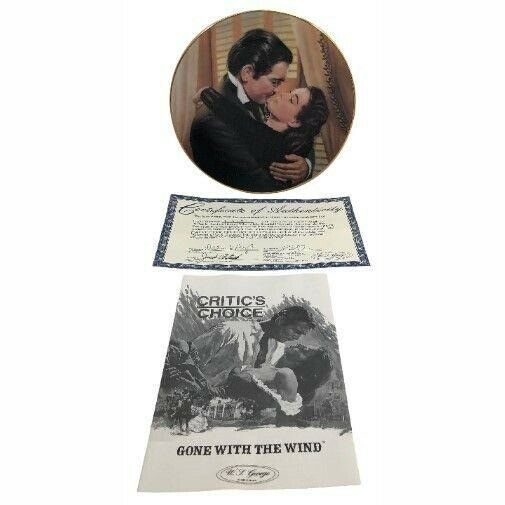 Marry Me Scarlett Gone with the Wind Plate Critics Choice 1991 Bradford Exchange - $24.75