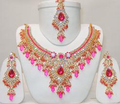 Zicsy Exclusiive jewellery CZ Necklace Set With Maangtikka BOGG256 - $62.99
