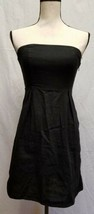 Old Navy Womens Dress 0 Black Strapless Linen Little Black Dress LBD - $19.99