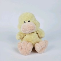 Ty Pluffies Duck Puddles Plush Stuffed Animal TyLux 2002 Yellow Peach #T13 - $8.90