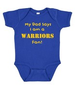 My Dad Says I am a Golden State Warriors Fan Cute Baby Boy Bodysuit Cree... - $8.98