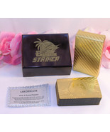 Black Striker Gold Deck Of Playing Cards Certificate 999.9 Gold Plated F... - $23.99
