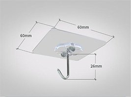 Self Adhesive Hooks Hangers - Transparent Wall Hooks |Heavy Duty 13 lb Sticky Wa image 5