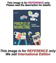 Principles of Marketing by Gary Armstrong and Philip Kotler, 18th editio... - $44.90