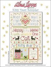 Kitty Dear Sampler cross stitch chart Alma Lynne Originals - $6.50