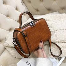 Pattern Leather Crossbody Bags For Women 2019 Fashion Small Solid Colors... - $27.96