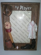 "#1 Player Baseball Football Sports 5"" x 3"" Photo Picture Frame Gift New ... - $16.79"
