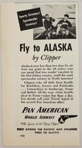 1946 Print Ad Fly to Alaska by Clipper Pan American World Airways Fisher... - $9.28