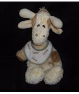 Boyds Huggle Fluffs Gussie Baby Giraffe Rassel mit / Bibel Plüschtier Sp... - $25.40
