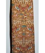 VTG SALVATORE FERRAGAMO Multi-Color Safari Cheetah Bird Dog Silk Men's N... - $74.25
