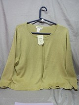 Coldwater Creek Women's Metallic Gold Silk / Poly Jacket -SIZE Xl -NEW With Tags - $19.99