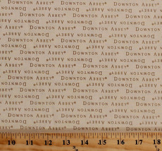Cotton Downton Abbey Words on Cream Cotton Fabric Print by the Yard D784.54 - $11.95