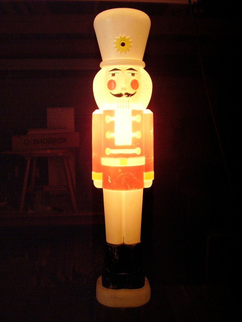 """65"""" Standing Tinsel Lighted Nutcracker Soldier Christmas ...   Lighted Nutcracker Soldier"""