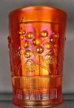 CARNIVAL GLASS - NORTHWOOD RASPBERRY Dark Marigold Tumbler 4059 - $27.00