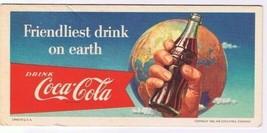 Coca Cola Ink Blotter 1956 Retro Friendliest Drink On Earth USA - $18.99