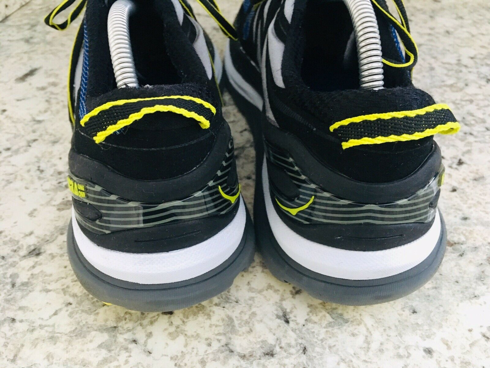 HOKA One One Constant Blue Yellow & Black running Shoes Men's SIZE 10 image 4