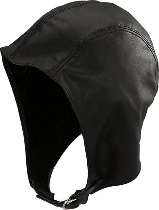 Henschel Garment Leather Unlined Aviator Helmet Buckle Made In USA Black Brown - $65.00